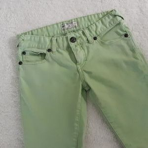 free people green jeans